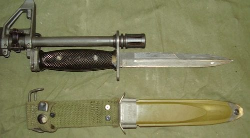 М7 установленный на стволе винтовки