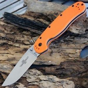Ontario Rat 1 сталь D2 оранжевая рукоять