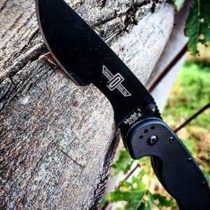 Ontario Rat Folder 1 черная рукоять, черный клинок, модель 8846