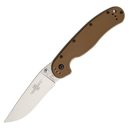 Ontario Rat Folder 1 сталь D2, коричневая рукоять, модель ON8867CB